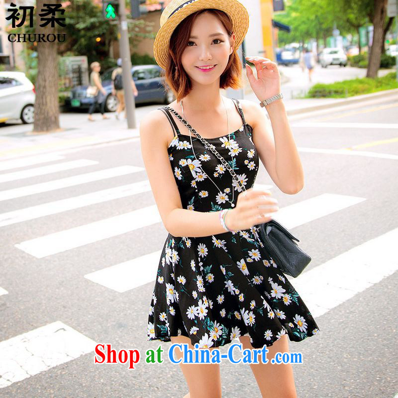 Flexible early summer 2015 Korean version of the greater code female thick mm video thin sleeveless floral T-shirt ultra-short safety trousers dresses package 200 jack can be through Picture Color XXXL