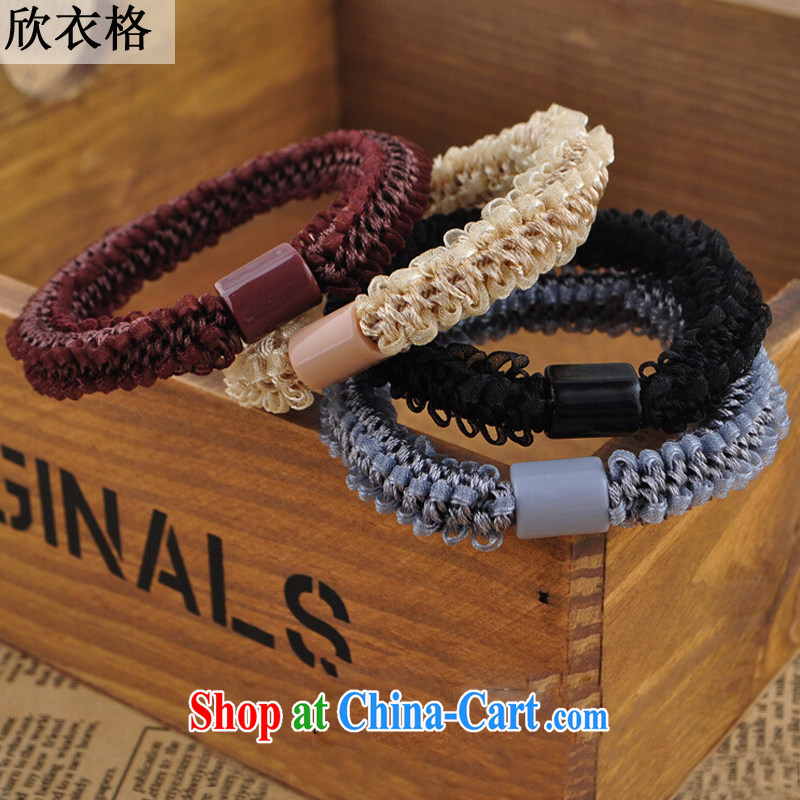 Xin Yi, 2015 _gifts, do not shoot, random_ fashion the head brought the Korean import leather band, the buds 002 white white all code