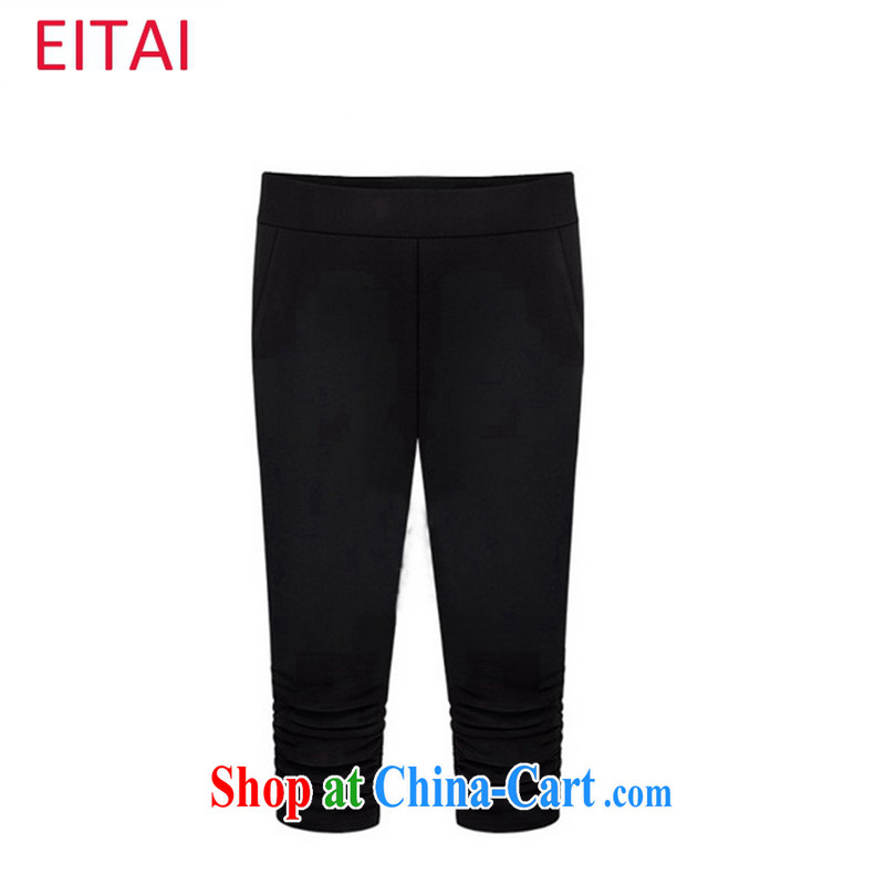 The EITAI Code women summer 2015 the FAT and FAT sister 7 pants black 5 XL