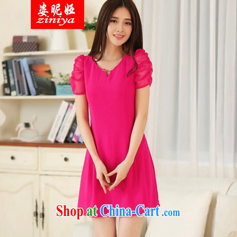 Colorful nickname Julia 2015 spring and summer mm thick, won a small-yuan Hong Kong Wind in long dresses beauty graphics thin the red XXXL