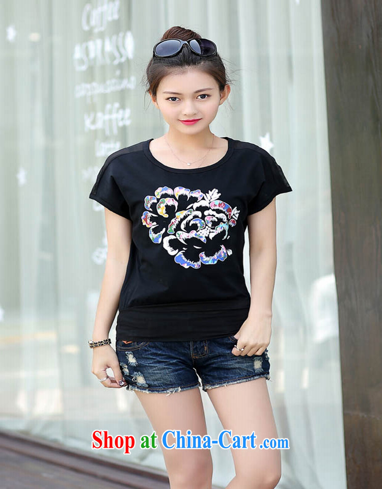 Bin Laden could be estimated (DAN FU AN) 2015 Korean version of the new product video thin loose round-collar short-sleeve larger female T-shirts female white XL (105 - 120 ) jack pictures, price, brand platters! Elections are good character, the national distribution, so why buy now enjoy more preferential! Health
