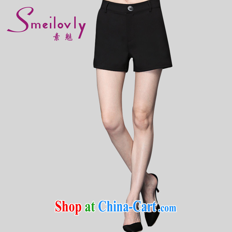 Staff of 200 jack and indeed XL women mm thick summer leisure hot pants shorts cotton thick sister 9205 Black Large Number 4 XL 180 Jack left and right