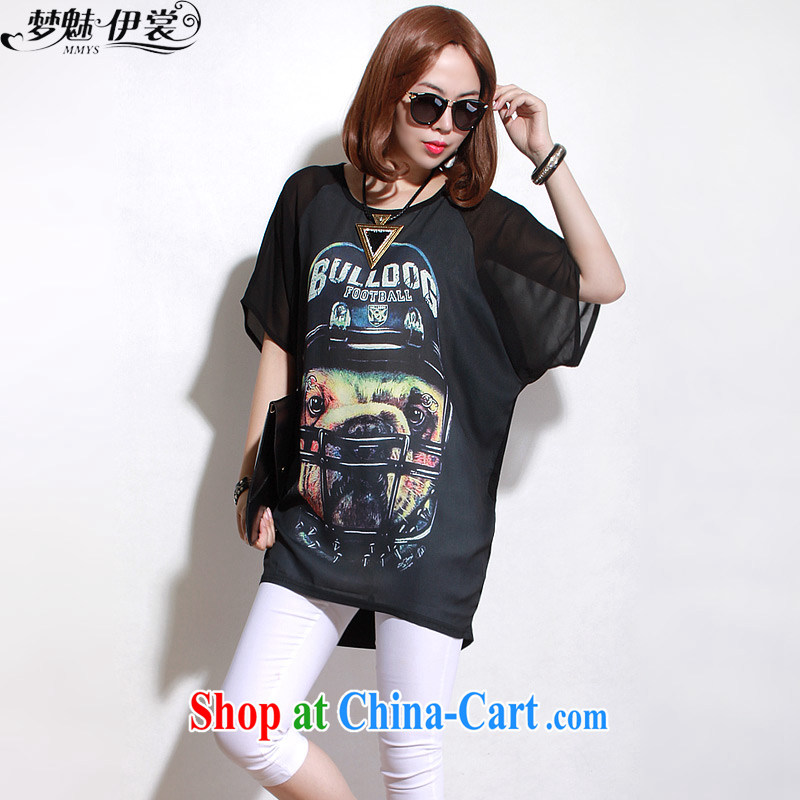 Director of the Advisory Committee Summer winds in Europe and loose video thin and thick XL women mm thick, long, short-sleeved shirt T Snow woven shirts T-shirt black loose all code