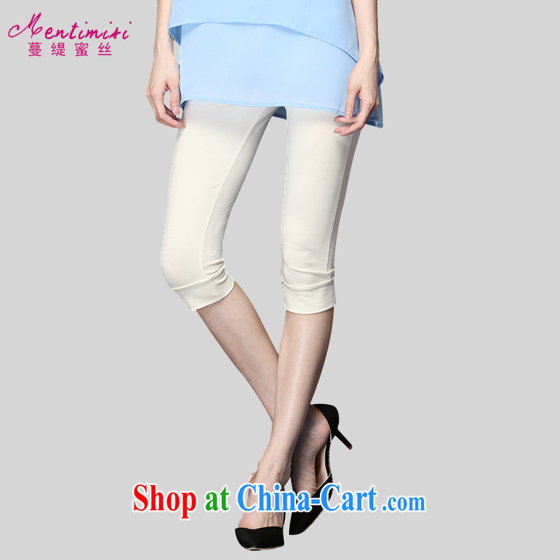 Mephidross economy honey, 200 jack and indeed XL female solid pants thick mm summer 7 girls pants, 9209 large white code 4 XL