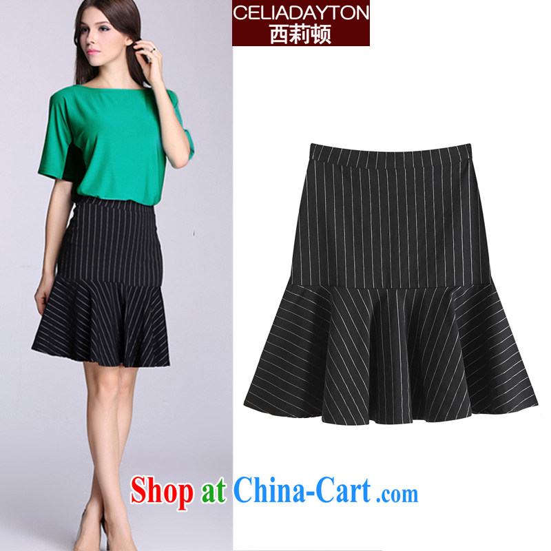 Cecilia Medina Quiroga and Macedonia is indeed increase code 200 Jack female body skirt 2015 new summer mm thick sister stretch upper body short skirts at Merlion dress in 100 ground black streaks 7 XL
