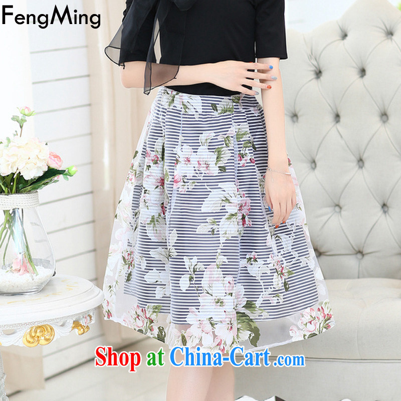 Abundant Ming summer 2015 larger graphics thin a field for stars with bowtie stamp shaggy dress new dress girls black XXL, HSBC Ming (FengMing), online shopping