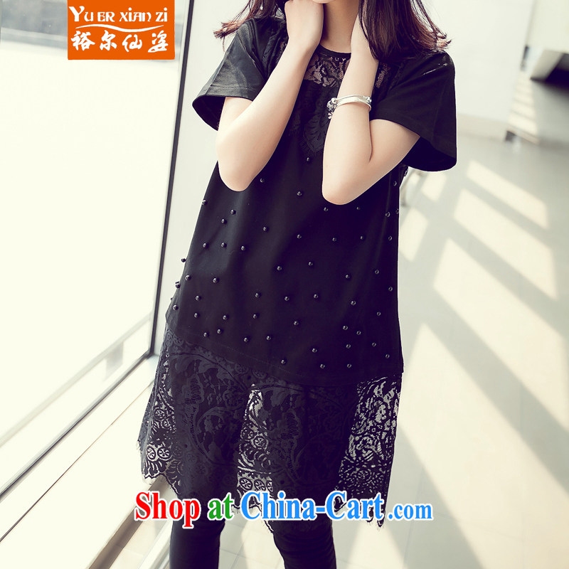 Yu's Sin City The Code women's clothing 200 Jack thick MM loose video thin lace, with summer skirts of Korean staple Pearl dress black 3 XL recommends that you 145 - 165 jack