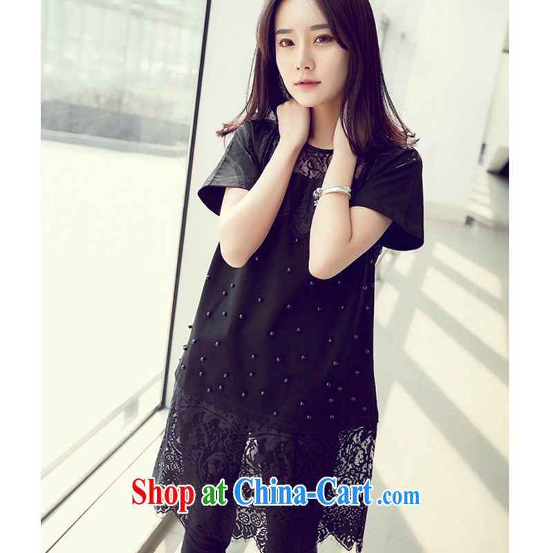 Yu's Sin City The Code women's clothing 200 Jack thick MM loose video thin lace, with summer skirts of Korean staple Pearl dress black 3 XL recommends that you 145 - 165 jack, Yu, for sin (yuerxianzi), online shopping