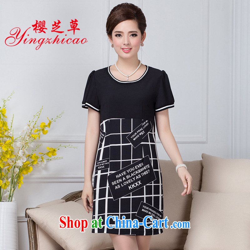 Ying Chi D. 2015 summer classic style, Beauty dresses mom with dress code the dress black 5 XL