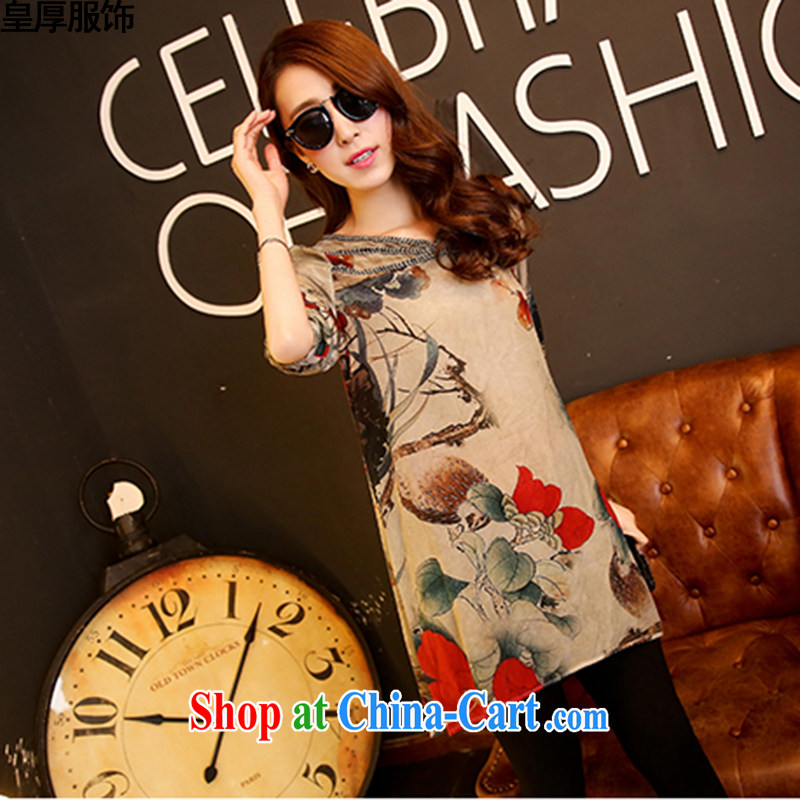 Not thick clothing summer 2015 quality female high quality mulberry large, relaxed and modern liberal 7 cuff Silk Dresses picture color M
