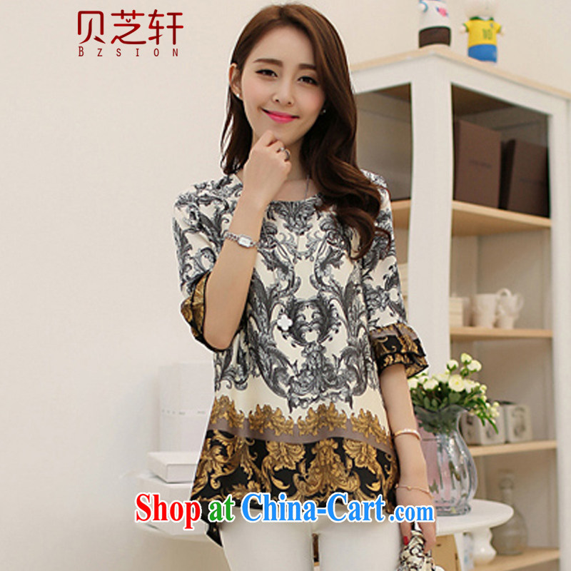 Pui Chi Hin 2015 stylish Korean version the Code women mm thick and indeed the snow woven shirts female leisure-waist, long T-shirt girls short-sleeved T-shirt 083 photo color XXXXXL recommendations 185 - 200 jack