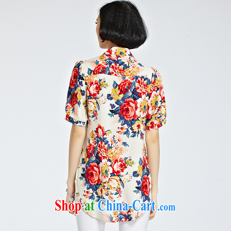 and the United States, would be increased, women mm thick beauty graphics thin 2015 summer new Snow woven stamp shirt loose, long, female T-shirt X 1219 XXXL suit, the US could (RIUMILVE), online shopping