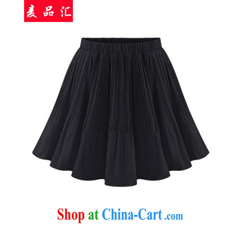 Mr MAK, meeting the code women summer 2015 new Korean thick sister 200 Jack video thin waist skirt shaggy umbrella skirt 100 hem skirt short skirt 382 black 4XL recommendations 175 - 250 jack