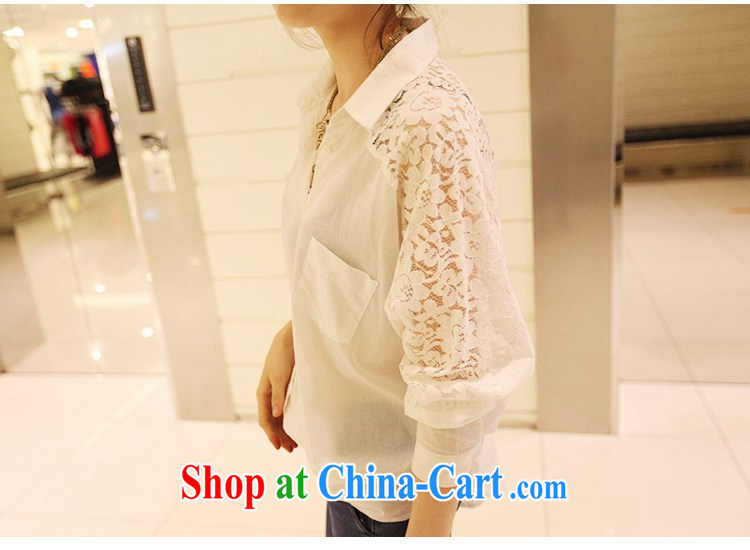 She concluded her card thick girls. With thin, thick sister summer Korean version and the fat girl shirt shirt chubby women lace fat girl the code t-shirt loose large white XL pictures, price, brand platters! Elections are good character, the national distribution, so why buy now enjoy more preferential! Health