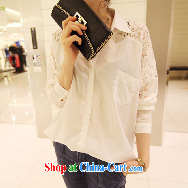 She concluded her card thick girls. With thin, thick sister summer Korean version and the fat girl shirt shirt chubby women lace fat girl the code t-shirt loose large white XL de Beauvoir card parties (SHAWADIKA), online shopping