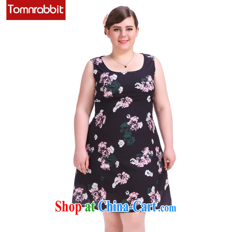 Summer 2015 new products, female sleeveless stamp dress mm thick beauty graphics thin a Field skirt picture color the code XL (pre-sale June 16 shipment)