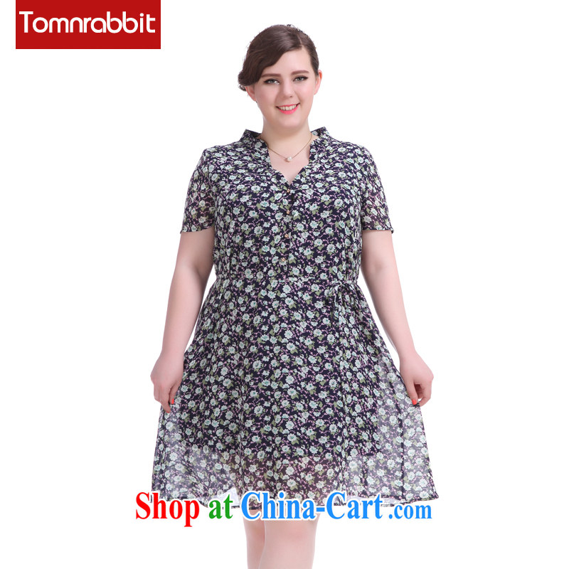 2015 summer new thick sister graphics thin ice woven floral larger female small, for Dress picture color the code XL (pre-sale June 12, shipping)