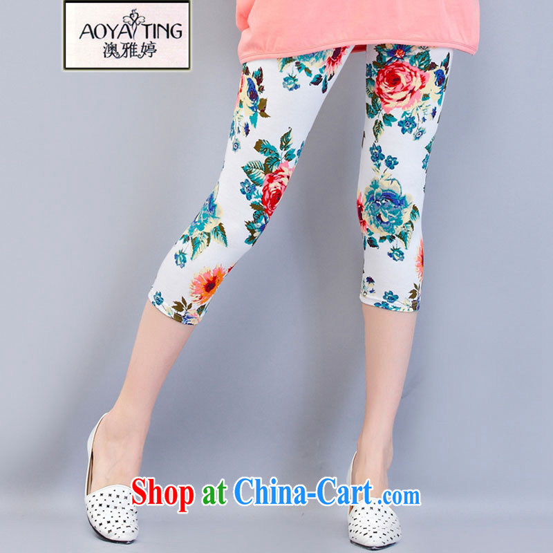 o Ya-ting 2015 New, and indeed increase, female summer thick mm video thin solid 7 pants, high stretch pants white stamp Trouser press 3XL