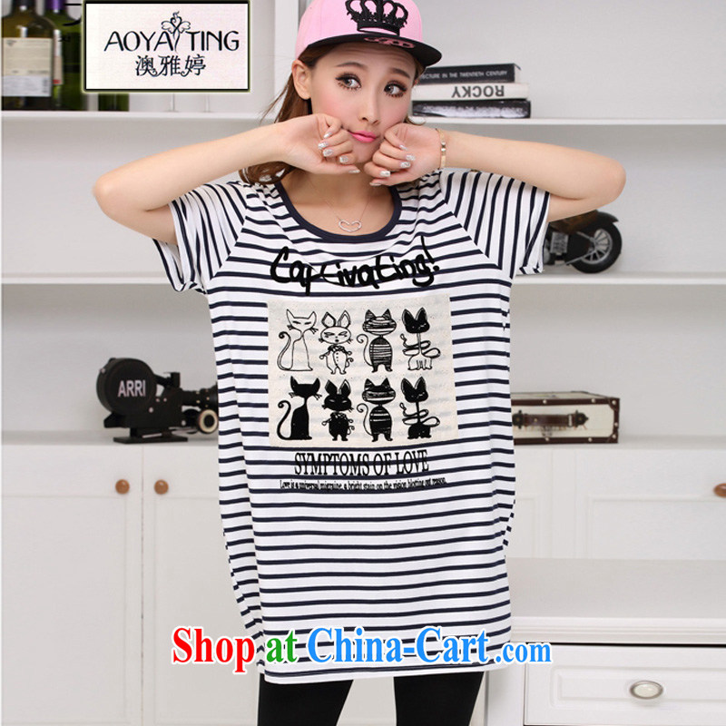 o Ya-ting 2015 new, indeed the XL female summer mm thick loose T-shirt short-sleeved T-shirt girls summer picture, color streaks King are Code recommends that you 100 - 160 jack