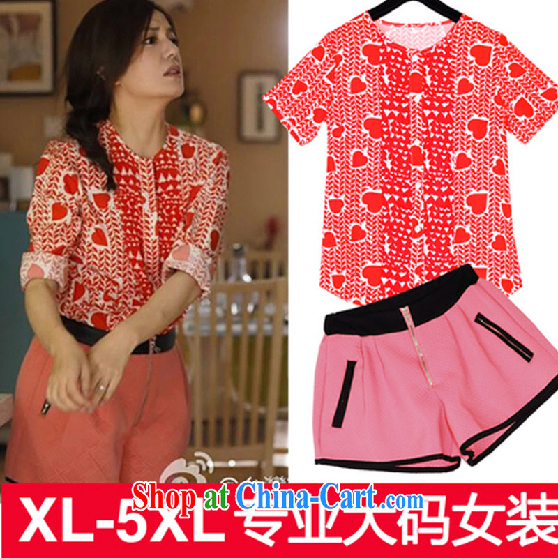 Cheuk-yan Zi spent 2015 Tiger cat mom and contribution of Win Vicki Zhao with short-sleeved + shorts package the code 1 1 original picture quality color XXXXXL
