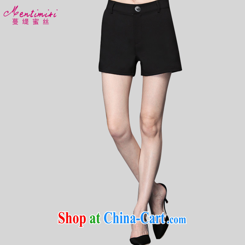 Mephidross economy honey, the Code women dress shorts and indeed increase 2015 summer New Style minimalist 100 cultivating ground pants hot pants M 9205 black 3 XL