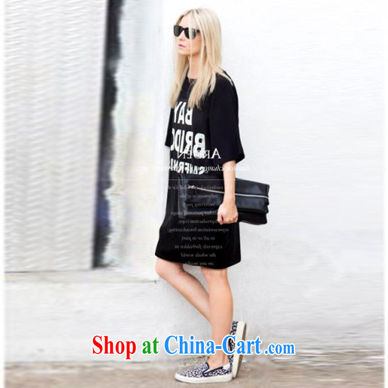 o Ya-ting 2015 New, and indeed increase, female summer mm thick short-sleeved T shirt graphics thin dresses black 4XL recommends that you 160 - 200 jack, O Ya-ting (aoyating), online shopping