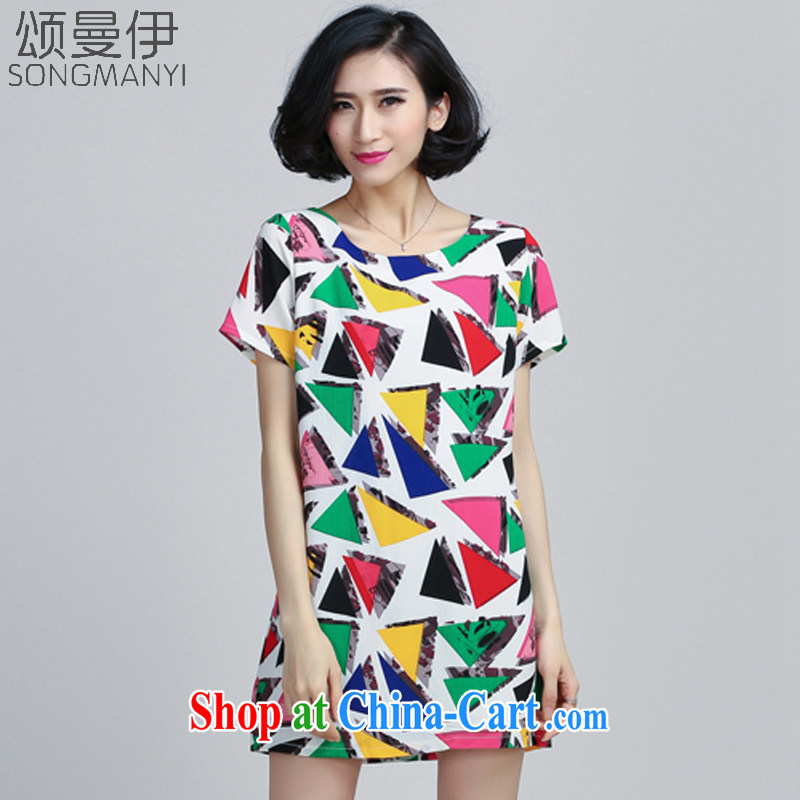 Also, the 2015 summer new large, thick MM stamp fashion style snow woven dresses 6032 photo color XXXXXL