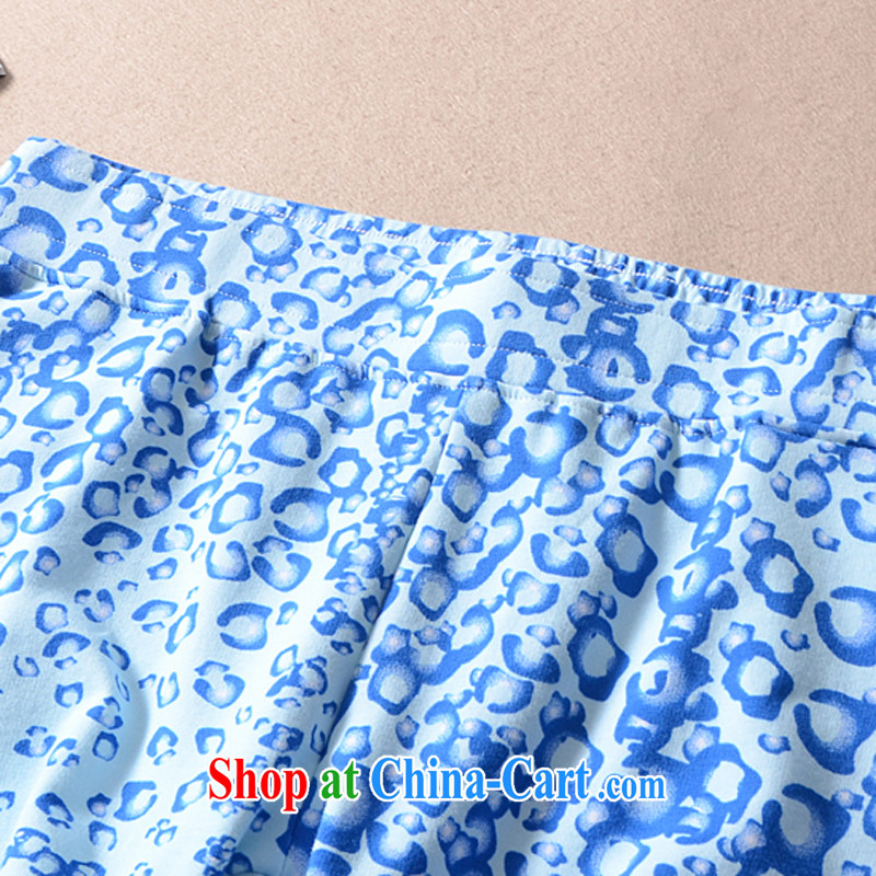 2015 mm thick summer wear large foreign trade, women on the single European shorts hot pants King code female trousers 200 Jack bdk light blue XL, talking about the Zhuang (gazizhuang), online shopping