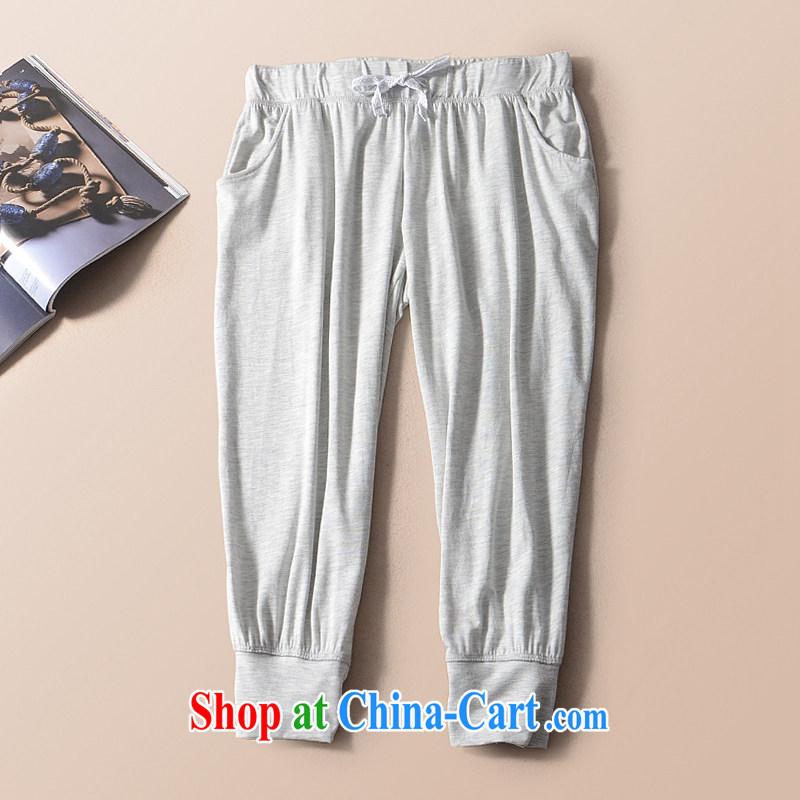 2015 mm thick summer large foreign trade, female original single 7 in Europe and a trouser press castor pants King code 200 Jack MD 7 light gray 52_54