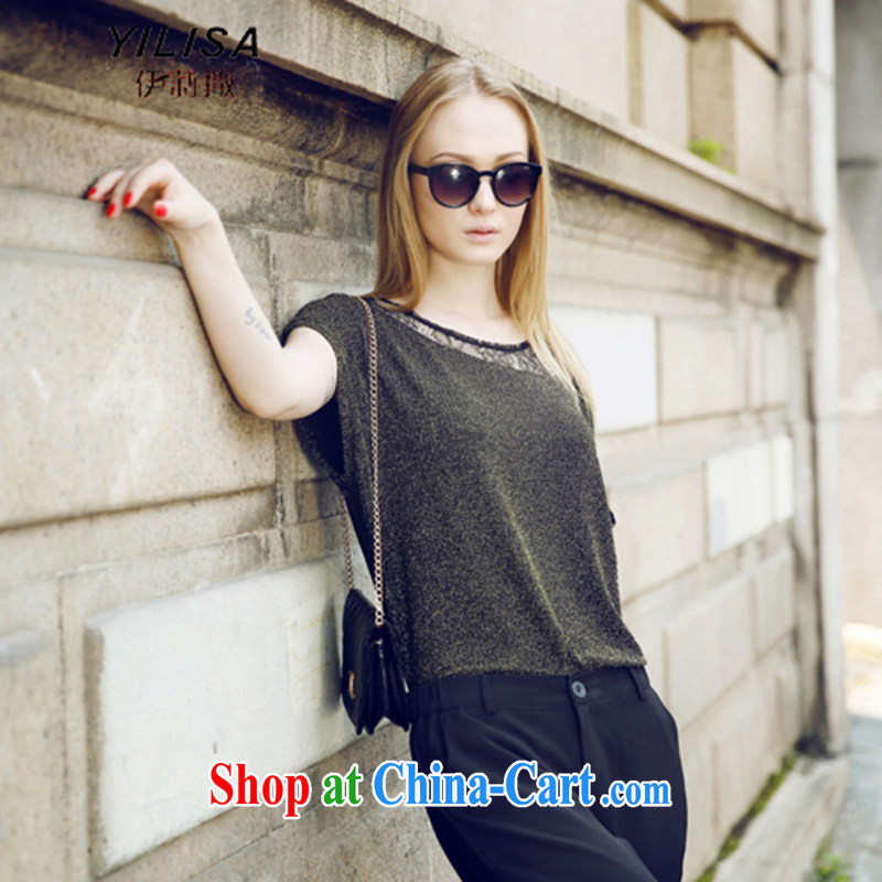 She sub-Saharan 2015 Europe larger female summer new t-shirt package thick mm summer trendy Code Language empty T shirt + 9 sub-Trouser press kit 5621 Y picture color 3XL