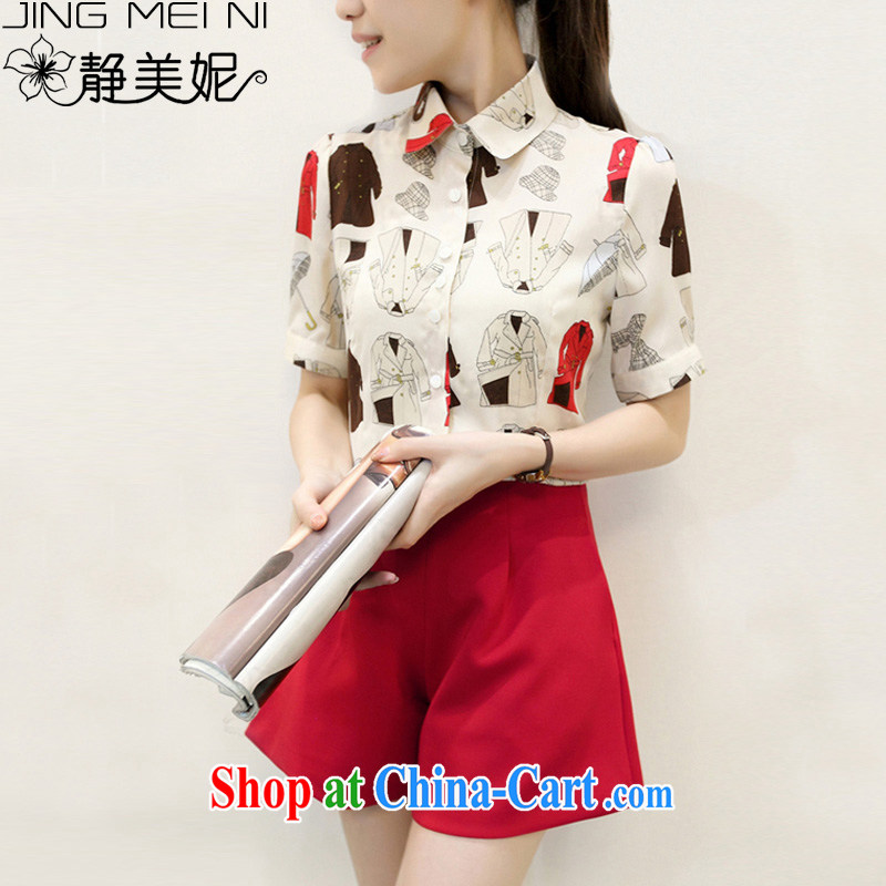 The Minnie summer 2015 new female graphics thin stylish lounge suite J 63,857 red M