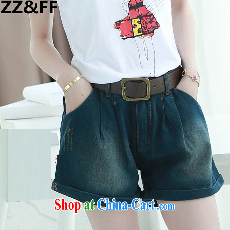 ZZ _FF summer 2015 new larger female liberal 200 Jack thick MM graphics thin jeans girls summer picture color XXXXXL _recommended 180 - 200_