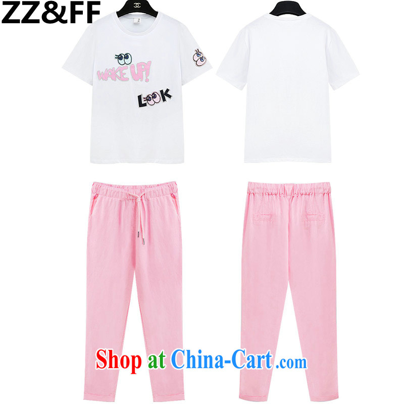 ZZ _FF 2015 is indeed the XL female leisure 200 Jack stamp T shirts stitching 9 Sub-unit 200 the commission Jack pants Two Piece Set with T shirt + toner pants XXXXXL _recommendations 180 - 200 jack_