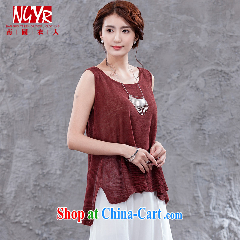 Xiao Nan Guo Yi, time-frames, the female loose the knit-vest solid ground 100 - 5-color red are code _chest area 92 - 100 CM_