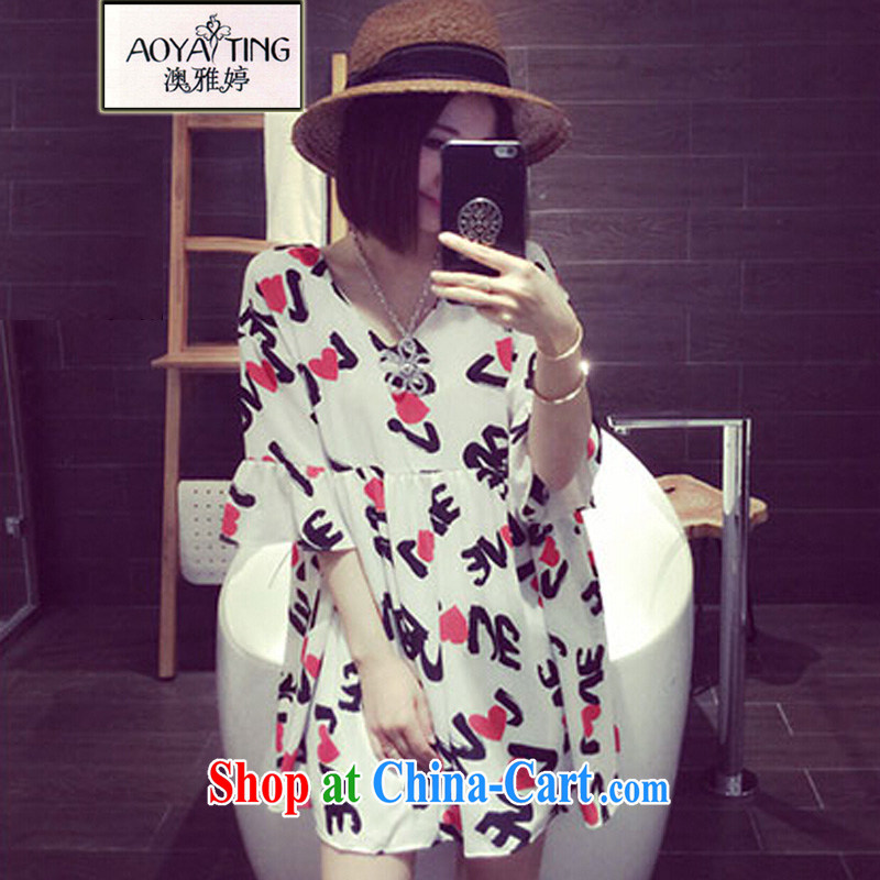 o Ya-ting 2015 new, more lenient, female summer thick mm video thin ice woven dresses women pregnant women with white XL recommends that you 140 - 160 jack