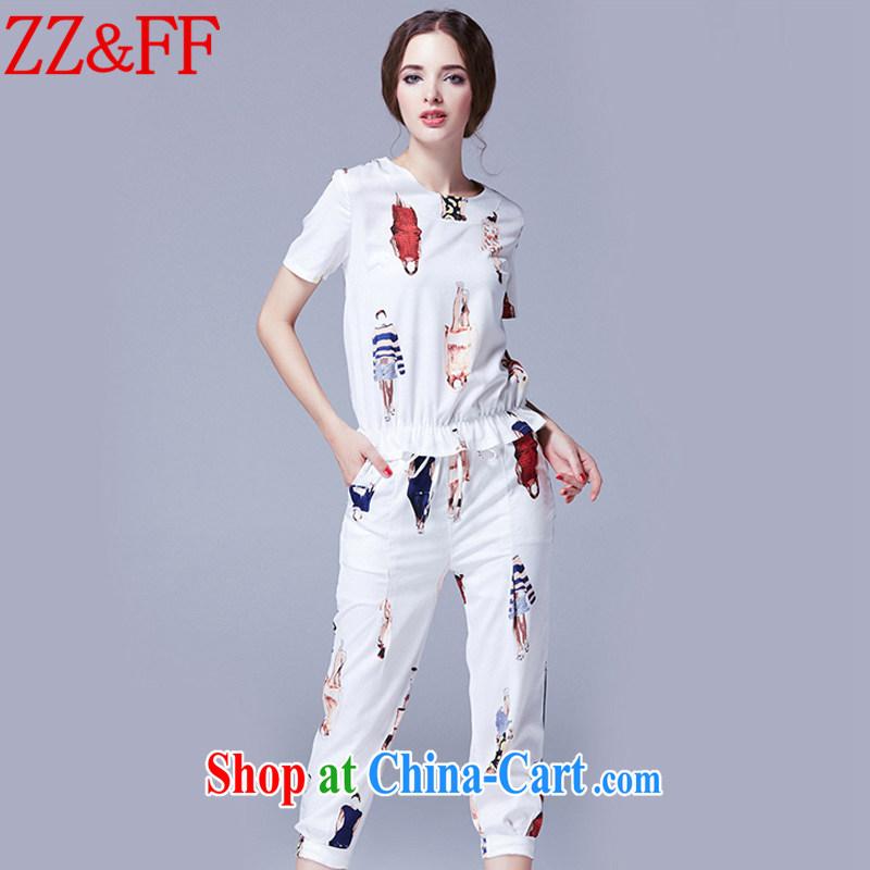 ZZ _FF summer 2015 new larger female decoration, short-sleeved cotton Ma Kit female TZ 246 white XXXXXL